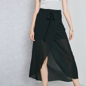 NWOT FOREVER 21 Wrap Skirt Chiffon Tulip Front Tie